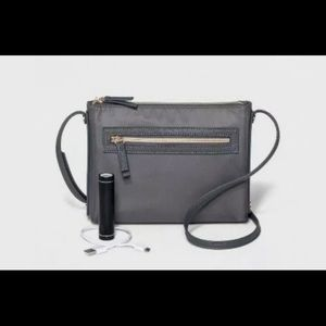 Women's Front Zip Tech Crossbody Bag